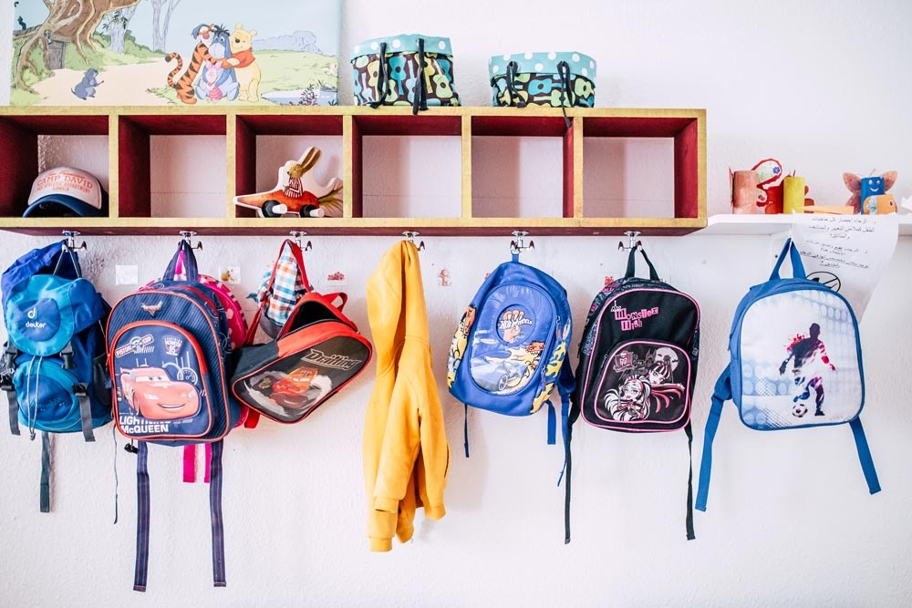 backpacks at childcare
